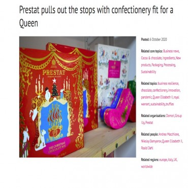 Confectionery Production Magazine features Prestat